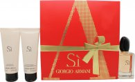 Giorgio Armani Si Gift Set 1.7oz (50ml) EDP + 2.5oz (75ml) Shower Gel + 2.5oz (75ml) Body Lotion