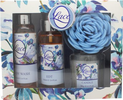 Taylor of London Lace Confezione Regalo 100ml EDT + 100ml Basgnoschiuma + Candela + Spugna