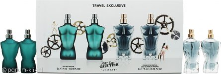 Jean Paul Gaultier Le Male Geschenkset 2 x 7ml EDT + 2 x 7ml Essence de Parfum