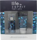 Esprit Night Lights Man Set de regalo 30ml EDT + 75ml Gel de ducha