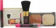 Sunkissed Rio Beach Bronze Gift Set 3.3g Lip Crayon + 6.5ml Mascara + 10g Sculpt & Glow Palette (Bronzer & Highlighter)