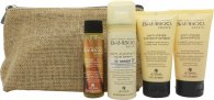 Alterna Bamboo Smooth On The Go Kit Gavesæt 40ml Shampoo + 40ml Balsam + 25ml Treatment Oil + 43g Anti-Humidity Spray + Bag