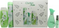 Coty Chanson d'Eau Gift Set 100ml EDT + 15ml EDT + 200ml Shower Gel + 200ml Deodorant Spray
