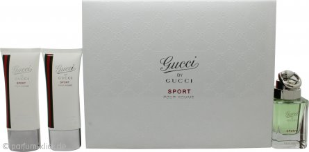 Gucci Gucci by Gucci Sport Pour Homme Geschenkset 50ml EDT + 50ml Duschgel + 50ml Aftershave Balsam