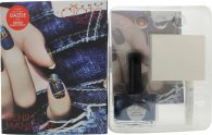 Ciaté Denim Manicure Kit Gift Set 13.50ml Nail Polish in Regatta + 1 x Grip Glue + 30 x Studs + 2 x Water Transfers