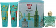 Anna Sui Romantica Exotica Geschenkset 50ml EDT + 100ml Body Lotion + 100ml Douchegel + Muziekdoosje