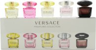 Versace Mini Set For Her Set de Regalo 5ml EDT Crystal Noir + 5ml EDT Bright Crystal Absolu + 5ml EDT Bright Crystal + 5ml EDT Yellow Diamond + 5ml EDT Yellow Diamond Intense