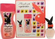 Playboy Generation For Her Gift Set 30ml EDT + 250ml Shower Cream