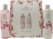Woods Of Windsor True Rose Gift Set 350ml Shower Gel + 350ml Body Lotion