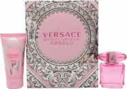 Versace Bright Crystal Absolu Gift Set 1.0oz (30ml) EDP + 1.7oz (50ml) Body Lotion