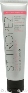 St. Tropez One Night Only Wash Off Face & Körperlotion 100ml - Light/Medium