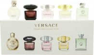 Versace Mini Set Per Lei Confezione Regalo 5ml EDT Versense + 5ml EDT Crystal Noir + 5ml EDT Bright Crystal + 5ml EDT Yellow Diamond + 5ml EDP Eros Pour Femme