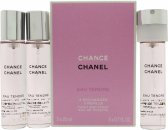 Chanel Chance Eau Tendre Eau de Toilette Refills 3 x 20ml Spray