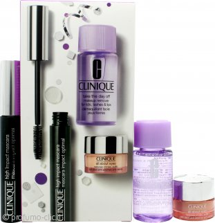 Clinique Confezione Regalo 7ml High Impact Mascara Nero + 5ml All About Eyes Eye Crema + 30ml Struccante