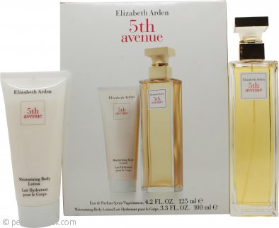 Elizabeth Arden Fifth Avenue Gift Set 4.2oz (125ml) EDP + 3.4oz (100ml) Body Lotion