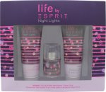 Esprit Night Light Gift Set 15ml EDT + 75ml Shower Gel + 75ml Body Lotion