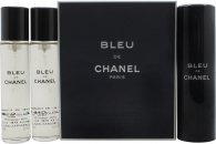 Chanel Bleu de Chanel Gift Set 3 x 20ml EDT (1 Purse Sprej + 2 Refills)