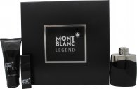 Mont Blanc Legend Gift Set 100ml EDT + 100ml Aftershave Balm + 15ml EDT