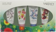 Yardley Hand Cream Geschenkset 4 x 50ml - English Bluebell + English Lavender + English Rose + English Dahlia