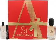 Giorgio Armani Si Gift Set 50ml EDP Spray + 15ml EDP + 2ml Eyes To Kill Mascara
