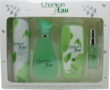 Coty Chanson d'Eau Gift Set 100ml EDT + 15ml EDT + 200ml Shower Gel + 200ml Deodorant Body Spray