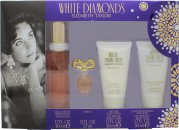Elizabeth Taylor White Diamonds Gift Set 50ml EDT + 50ml Body Lotion + 50ml Body Wash + 3.7ml EDP