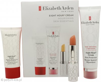 Elizabeth Arden Eight Hour Cream Original Gift Set 50ml Eight Hour Skin Protectant + 3.7g Lip Protectant Stick + 30ml Intensive Moisturizing Hand Treatment