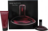 Calvin Klein Deep Euphoria Set de regalo 30ml EDP + 100ml Gel de ducha