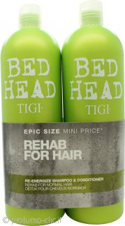 Tigi Bed Head Re-Energize Confezione Regalo 750ml Shampoo + 750ml Balsamo