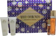 Elizabeth Taylor White Diamonds Gavesæt 100ml EDT + 100ml Body Lotion + 100ml Shower Gel + 10ml EDP