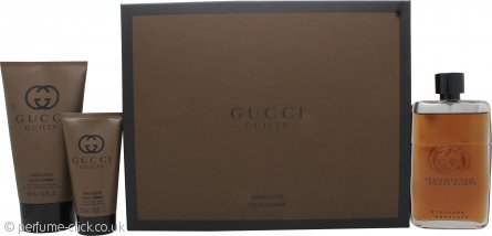 Gucci Guilty Absolute Gift Set 90ml EDP + 50ml Aftershave Balm + 150ml Shower Gel