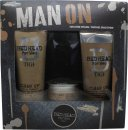 TIGI Bed Head For Men Man On Gift Set 250 Shampoo + 200ml Conditioner + 85g Workable Wax