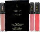 Guerlain Gloss D'Enfer Gift Set 3 x 7.5ml Maxi Shine Lip Gloss