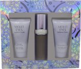 Elizabeth Taylor Violet Eyes Gift Set 1.0oz (30ml) EDP + 1.7oz (50ml) Body Lotion + 1.7oz (50ml) Shower Gel