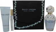 Marc Jacobs Daisy Dream Gift Set 100ml EDT Spray + 75ml Body Lotion + 10ml EDT