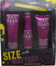 Tigi Bed Head For Women Size Matters Set de regalo 250ml Champú + 200ml Acondicionador + 311ml Thickening Spray