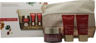 Clarins Super Restorative Gift Set 50ml Day Cream + 15ml Night Cream + 15ml Decollete and Neck Concentrate + Wash Bag