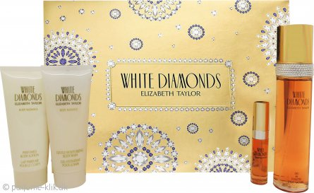 Elizabeth Taylor White Diamonds Gavesæt 100ml EDT+ + 100ml Body Lotion + 100ml Gentle Moisturizing Body Wash