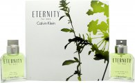 Calvin Klein Eternity Gift Set 100ml EDT + 100ml Aftershave Splash