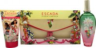 Escada Fiesta Carioca Set de regalo 100ml EDT + 150ml Body Milk + Bolso