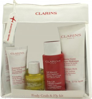 Clarins Body Grab & Fly Kit Travel Exclusive Gift Set 4 Pieces