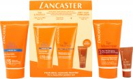 Lancaster Sun Care Gavesett 50ml Silky Fluid Milk SPF15 + 30ml Sun Beauty Velvet Face Cream SPF30 + 2 x 50ml After Sun Tan Maximizer + Pose