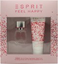 Esprit Feel Happy for Women Gift Set 15ml EDT + 75ml Shower Gel