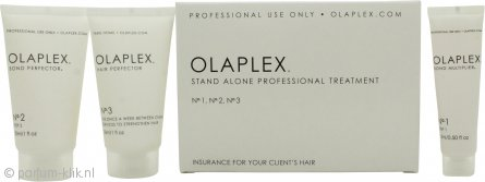 Olaplex Treatment Kit 3 Step Gift Set 15ml Bond Multiplier + 15ml  No.2 Bond Proterctor + 15ml No.3 Bond Protector