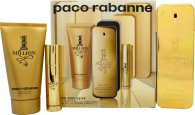Paco Rabanne 1 Million Gift Set 100ml EDT + 10ml EDT + 75 Shower Gel