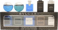 Bvlgari Men's Gift Collection Miniature Gift Set 5 x 5ml Aqva Pour Homme Atlantique EDT + 5ml Aqva Pour Homme EDT + 5ml BLV Pour Homme EDT + 5ml Man In Black EDP + 5ml Man Black Cologne EDT