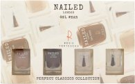 Nailed London Perfect Classics Collection Confezione Regalo 2 x 10ml Smalti + 10ml Top Coat + 10ml Base Coat