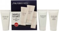 Shiseido Men Starter Gift Set 30ml Cleansing Foam + 30ml Face Scrub + 30ml Moisturising Gel