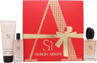 Giorgio Armani Si Presentset 50ml EDP + 75ml Body Lotion + 15ml EDP