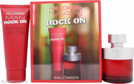 Jesus Del Pozo Halloween Man Rock On Presentset 75ml EDT + 100ml Moisturizing Face Care